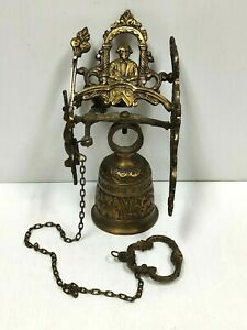 Vintage/Antique Brass Wall Mounted Monastery Bell