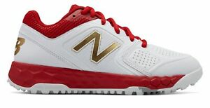 New Balance Fresh Foam Turf Velo1 Softball Womens Shoes Red with White