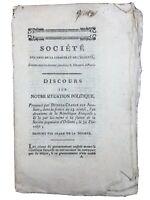 Rare Club des Jacobins 1794 Dubois Crancé Orléans Grenoble Isère Cuchet Suat