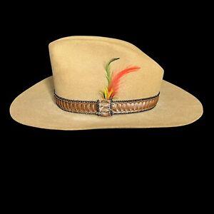 Vintage John B Stetson Co. Cowboy Western Hat XXX Beaver Size 7 Leather Hat Band