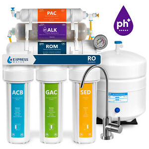 Under Sink Alkaline Mineral RO Water Filtration System with 75 GPD RO Membrane Fil-fresh 6 stage Complete Alkaline Reverse Osmosis Replacement Filter Cartridge Bundle