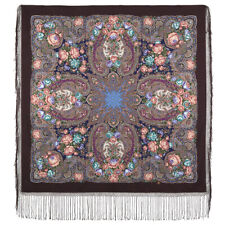 1760-17 Earthly Love- Merino Woolen Shawl Warmth Winter Wrap Scarf Pavlovo Posad