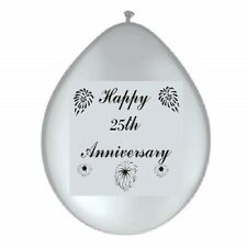 SILVER 25th Wedding ANNIVERSARY Party Supplies - Banners, Balloons & Decorations