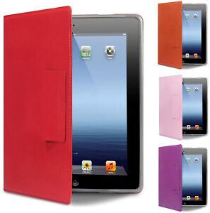 Luxury Protective Stand PU Leather Folio Case Cover for Apple iPad 3 iPad 4