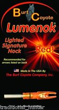 Lighted Nock (2-Pack) - Lumenok by Burt Coyote - RED - Archery - SL1