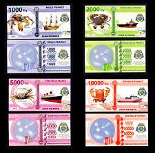 ★★ ILE JUAN DE NOVA ● TAAF ● COLLECTION DE 4 BILLETS : 1000 A 10000 FRANCS ★★