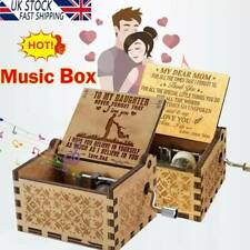 You Are My Sunshine Wooden Engraved Music Box for Mom/Dad To Daughter/Son UK