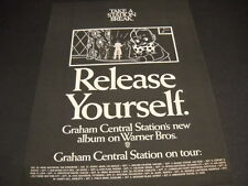 Graham Central Station Aug. 30-Oct. 6, 1974 Tour Dates Promo Poster Ad mint