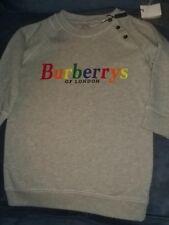 Kids Gray Burberry Sweatshirt Size 3Y