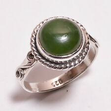 925 Sterling Silver Ring Size US 8.5, Natural Malachite Gemstone Jewelry R3399
