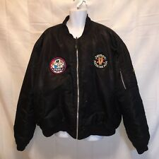 Knox Armory mens 3x? reversible black and orange bomber jacket patches on the fr