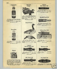 1952 PAPER AD Deeks Latex Rubber Duck Decoys Dupe A Goose Duc-Em Call Pull-Em
