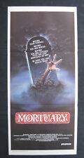 MORTUARY 1983 Orig Australian daybill movie poster horror slasher graveyard