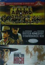 3 Westerns The Alamo Hang 'Em High Butch Cassidy and the Sundance Kid Sp Edition
