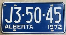 Vintage Alberta J3-50-45, 72 Plate, CANADA License Plate ~ Man Cave, Garage