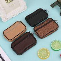 Soft Men Women Card Coin Key Holder Zip Change Pouch Wallet Pouch Bag Purse Gift