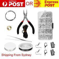 DIY Jewellery Making Kit Beads Wire Findings Pliers Starter Tool Earring Case