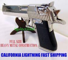 2017 REPLICA 3D CHROME METAL 50 CAL DESERT EAGLE MOVIE PROP Pistol Gun Training