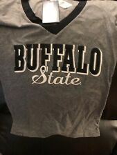 New with Tags Buffalo State College Women's V-Neck Shirt Size Medium