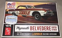 AMT 1964 Plymouth Belvedere Lawman Super Stock 1:25 model drag car kit new 986