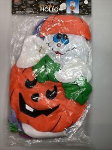 """""""Spooky hollow"""" 60"""" halloween windsock. Cute ghost in pumpkin Halloween Outdoor"""