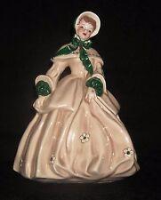 "Vintage Florence Ceramics ""ABIGAIL"" Figure, Godey Series, Beige & Green"