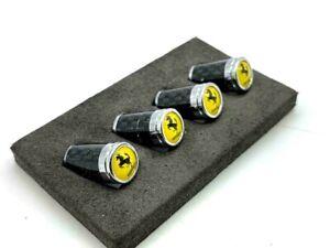 Carbon Fiber Tire Valve Stem Caps Ferrari