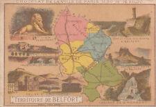 TERRITOIRE DE BELFORT TOUR MIOTTE LION CASCADE GIROMAGNY   IMAGE CARD CHROMO