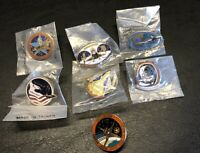 7 Mint Vintage Nasa Columbia Space Shuttle STS-2,Space Lab, Etc Hat Pin Pinback
