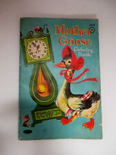 Mother Goose Coloring Book copyright 1961 Whitman Publishing Partially used