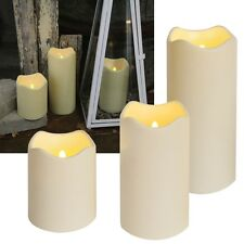 ❤ LED Candle Outdoor Big with Timer Twilight Sensor Flickering outside Garden