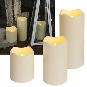 LED Kerze Outdoor BIG mit TIMER Dämmerungssensor flackernd Kerzen Außen Garten