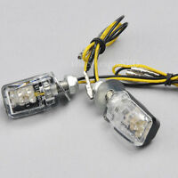 2x 6 LED Amber Mini Motorcycle Turn Signal Blinker Indicator Light Universal 12V