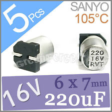 5 x 16V 220UF 6x7mm Standard SMD Super Low ESR Aluminum Solid Capacitor