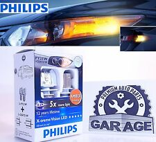X2 Philips PY21 W LED Xtreme Ultinon  Amber Inturn Signal Light car lamp 12764X2