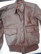 WW2 A-2 Leather Flight Jacket Mfg J.A. Dubow Size 38 Lost World