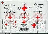 Bloc/feuillet F5001 Croix Rouge de 2015 oblitéré 1er jour LUXE