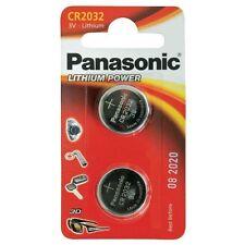 2Pcs Panasonic CR 2032 Litio 3 V baterías de larga vida de batería tipo moneda Multipropósito