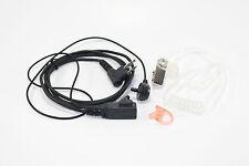 Motorola PTT Covert Police Acoustic Tube Earpiece Headset Mic With Earmold