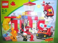 Lego Duplo 5601 Feuewehrstation,Hubschrauber,Licht&Sound,Set Komplett,OVP