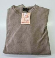 PULL TAILLE L SWEATER HOMME 100% PUR CASHMERE CACHEMIRE PURE GUTTERIDGE BEIGE