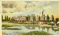 1943 Postcard View of Kennedy Collegiate from Jackson Park, Windsor, Ontario, CA
