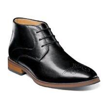 Florsheim Blaze Medallion Toe Chukka Boot Mens Boot Black Leather 14202-001
