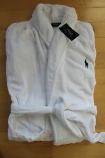 NWT RALPH LAUREN Polo Pony Men's Plush Bath Robe WHITE S M L XL XXL