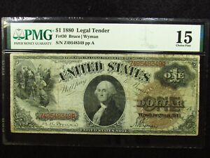 1880 $1 United States Legal Tender Fr#30 PMG CHOICE FINE 15