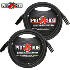 2 PACK Pig Hog 6FT Shielded Microphone Cable Cord XLR 8mm Tour Grade PigHog Mic