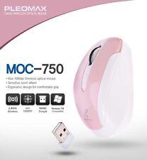 Genuine Pleomax Wireless Mouse MOC-750 1000dpi Nano Dongle For PC Laptop Pink