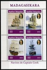 Madagascar 2019 MNH Captain James Cook Voyages 4v M/S Boats Ships Stamps