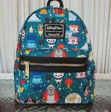 Disney Parks Loungefly Magic Kingdom Attractions Mini Backpack Actual Print Nwt