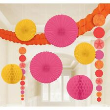Summer Shells Hanging Decorating Party Kit 9 piece Pink Orange Yellow by Amscan